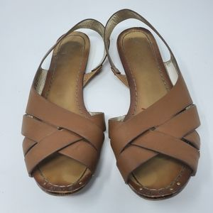 ALDO | Brown Flat Sandals with Slingback